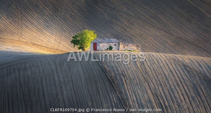 Marche's agricultural fields, Montesangiusto village, Macerata district, Marches, Italy