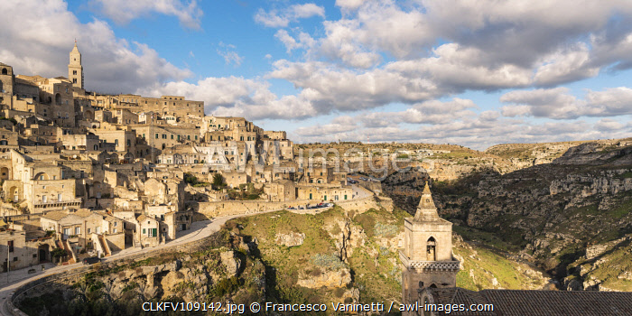 awl-images.com - Italy / High angle view of the Sassi quarter and the Murgia Park. Matera, Basilicata region, Italy.