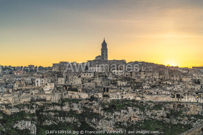 awl-images.com - Italy / View of the Sassi quarter at sunset. Matera, Basilicata region, Italy.