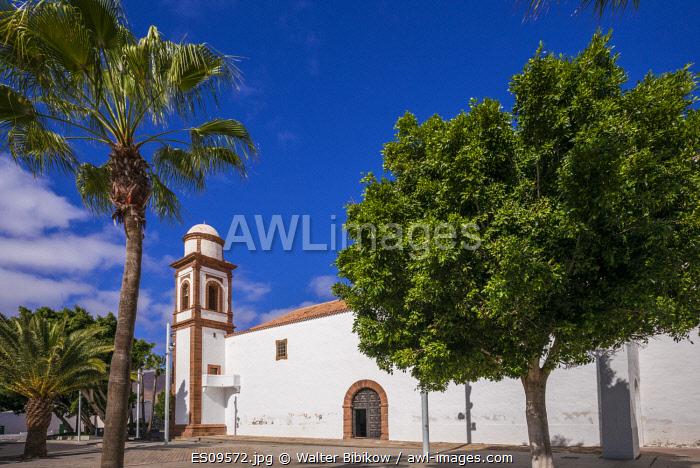 Spain, Canary Islands, Fuerteventura Island, Antigua, Nuestra Senora de Antigua church, exterior