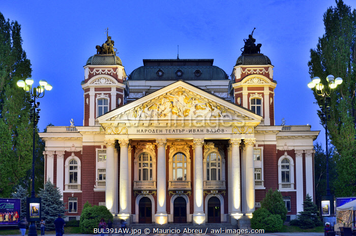 Ivan Vazov National Theatre, the oldest theatre in the country. Sofia, Bulgaria
