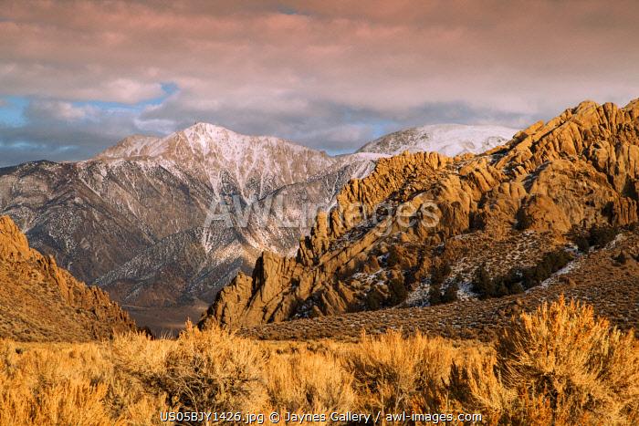 USA, California. White Mountains landscape