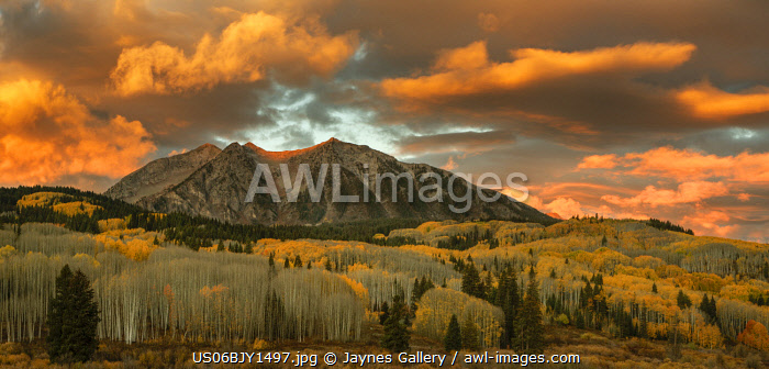 USA, Colorado, Gunnison National Forest. Sunrise on East Beckwith Mountain