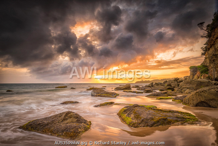 Storm clouds over Jenny Dixon Beach, Central Coast, New South Wales, Australia
