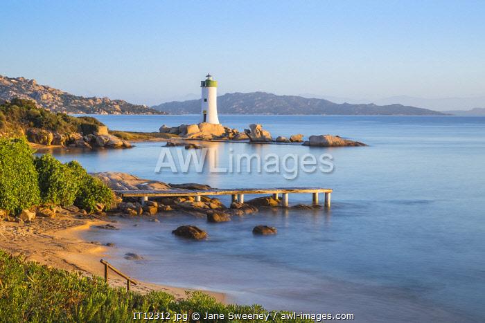 Italy, Sardinia, Sassari Province, Palau, Porto Faro Lighthouse