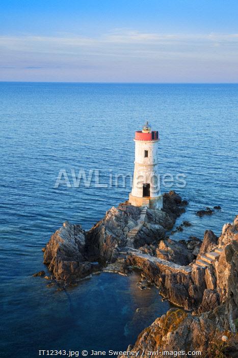 Italy, Sardinia, Porto Cervo, Capo Ferro, Capo Ferro Lighthouse