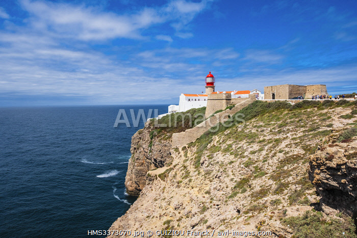 awl-images.com - Portugal / Portugal, Algarve region, Southwest Alentejano and Costa Vicentina Natural Park, Saint Vincent Cape, Saint Vincent lighthouse and fortress