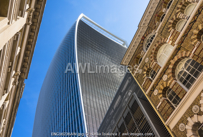awl-images.com - England / â��Walkie-Talkieâ� skyscraper, or 20 Fenchurch Street, surrounded by other buildings in the City of London, London, England
