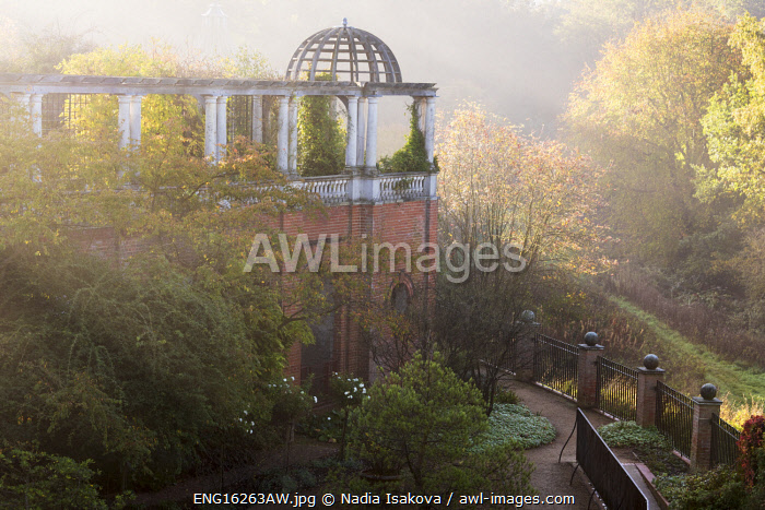 awl-images.com - England / The Hill Garden and Pergola in the morning mist, Hampstead, London, England