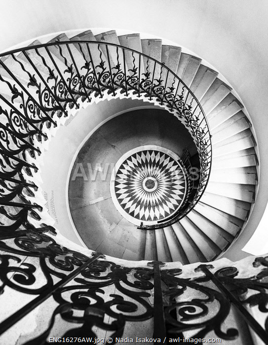 awl-images.com - England / The Tulip Stairs - a spiral staircase in the Queen�s House, Greenwich, London, England