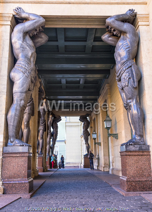 awl-images.com - Russia / The Atlantes of New Hermitage, Saint Petersburg, Russia