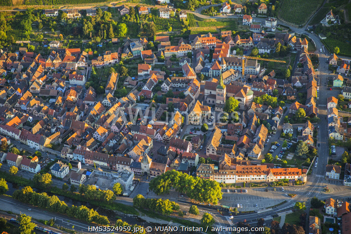 awl-images.com - France / France, Haut Rhin, Alsace Wine road, Turckheim (aerial view)