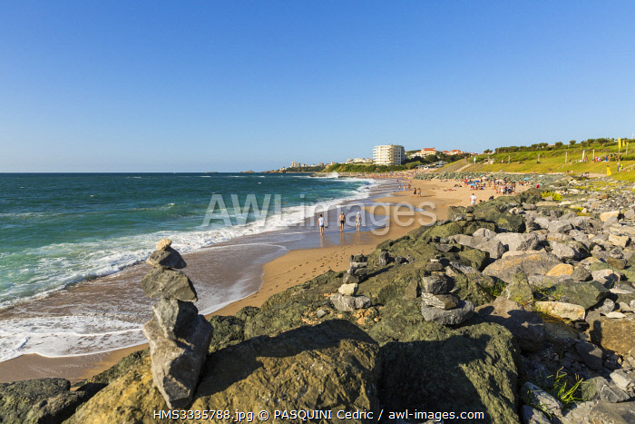 awl-images.com - France / France, Pyrenees Atlantiques, Bask country, Biarritz, Milady beach
