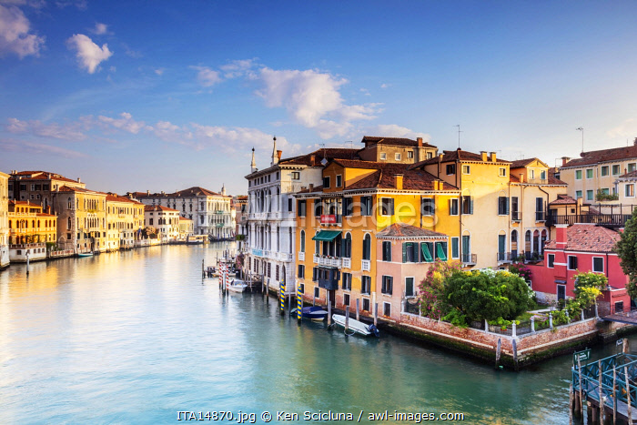 Italy. Veneto. Venice. Palaces on the Gran Canal.