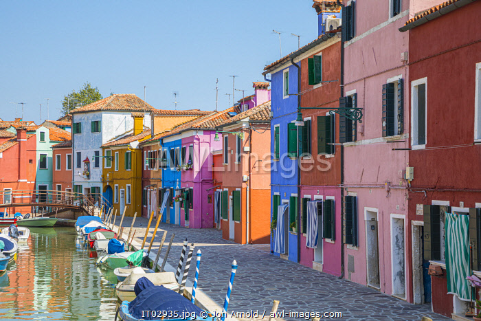Colourful houses, Burano, Venice, Veneto, Italy