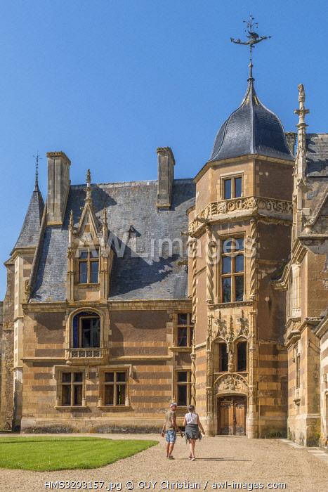 France, Cher, Berry, chateau d'Ainay le Vieil castle, the Jacques Coeur road