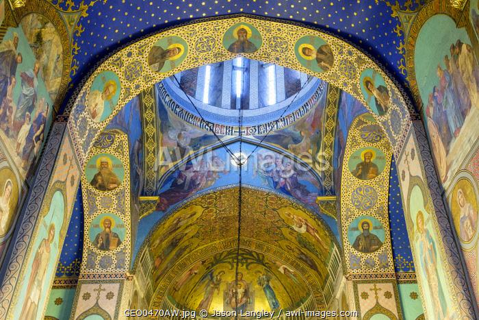 Sioni Cathedral interior, Tbilisi (Tiflis), Georgia.