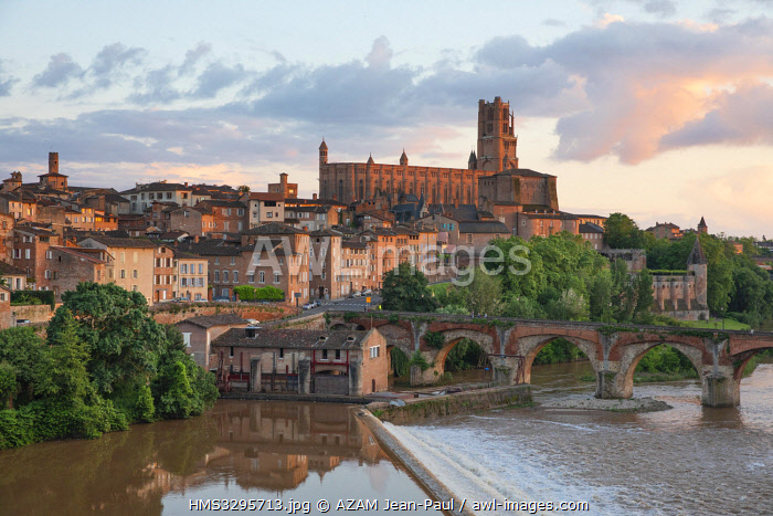 France, Tarn, Albi, listed as World Heritage by Unesco