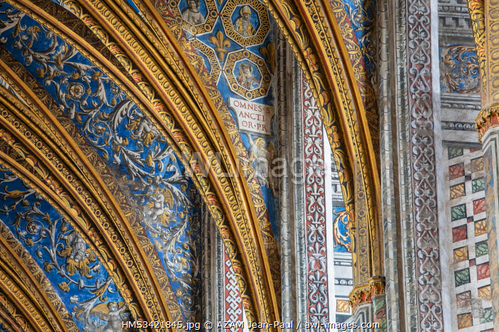 France, Tarn, Albi, listed as World Heritage by UNESCO, Sainte Cecile cathedral, the paintings