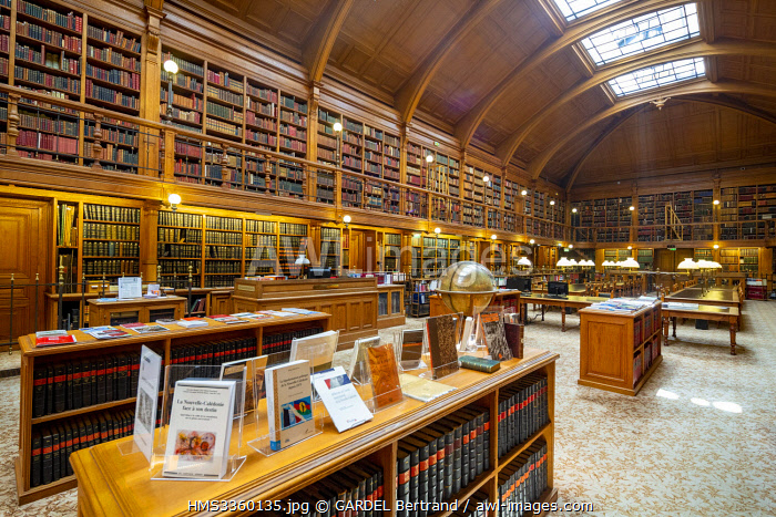 France, Paris, the Paris City Hall, the library