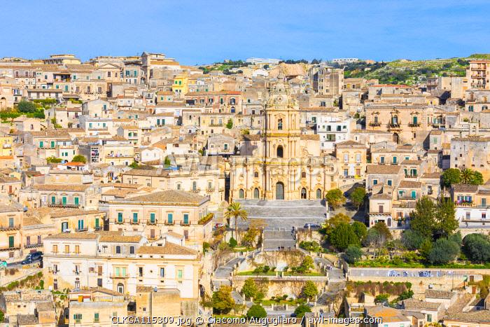 Baroque cathedral of san Giorgio located in Modica, Ragusa province, Sicily, Italy