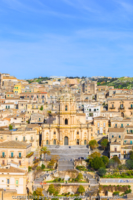Baroque cathedral of san Giorgio located in Modica, Ragusa province, Sicily, Italy