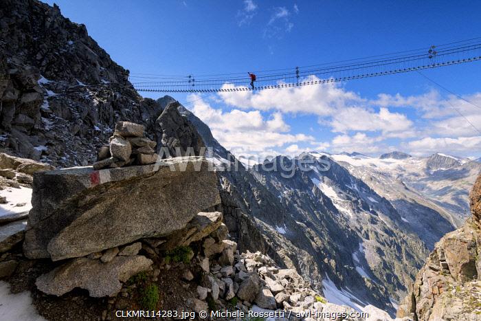 Sentiero dei Fiori in Tonale pass, Brescia province, Lombardy District, Italy.