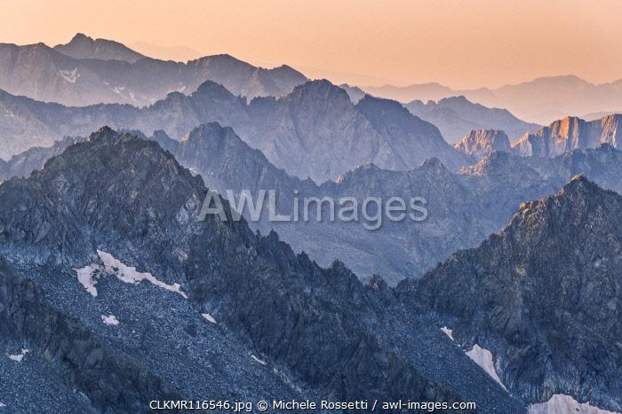 Sunrise in Adamello park from Cima Plem, Brescia province, Lombardy district, Italy, Europe
