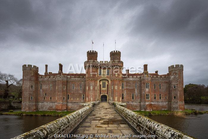 Herstmonceux castle, Herstmonceux, East Sussex, England, UK