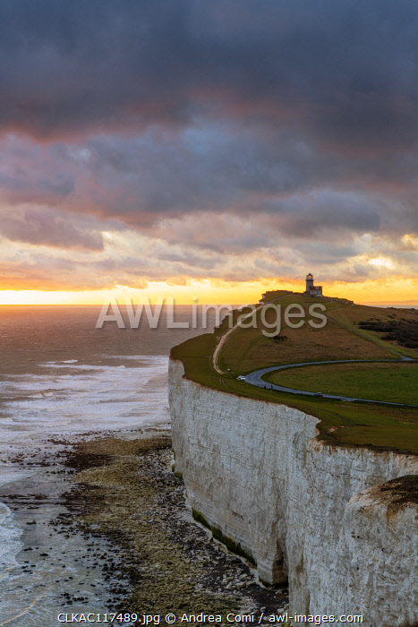 Belle Tout lighthouse, Beachy Head, Eastbourne, East Sussex, England, UK