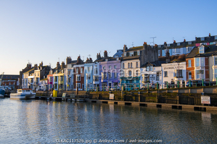 Weymouth harbor, Jurassic coast, Dorset, England, UK