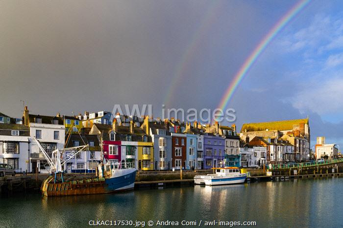 Weymouth harbor, Jurassic coast, Dorset, England, UK