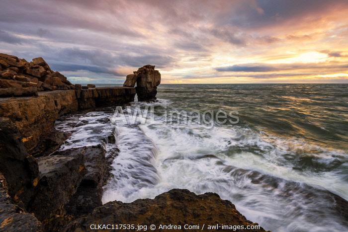 The Pulpit Rock, Isle of Portland, Jurassic coast, Dorset, England, UK