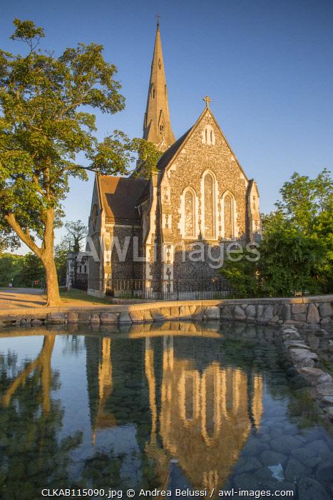 Sant Alban church in Copenhagen, Hovedstaden, Denmark, Northern Europe.