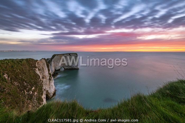 Old Harry Rocks, Handfast Point, Isle of Purbeck, Jurassic Coast, Dorset, England, UK