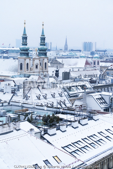Peterskirche (St. Peter's Church) from north tower of St. Stephen�s Cathedral (Stephansdom), Vienna, Austria