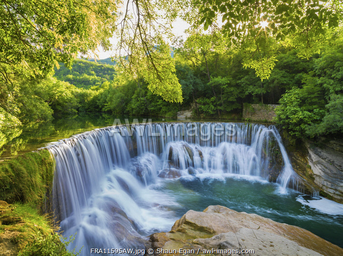 France, Lozere, Longuedoc-Roussillon, Gorges du Tarn, Waterfall