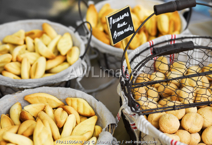 France, Provence, Alpes Cote d'Azur, Castellane, bread at market stall
