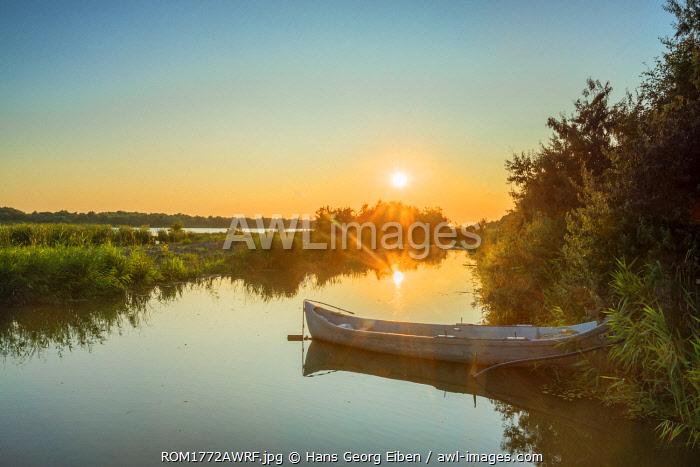Sunset at the Saint George branch of the Danube, Saint George, Danube Delta, Dobrudscha, Romania