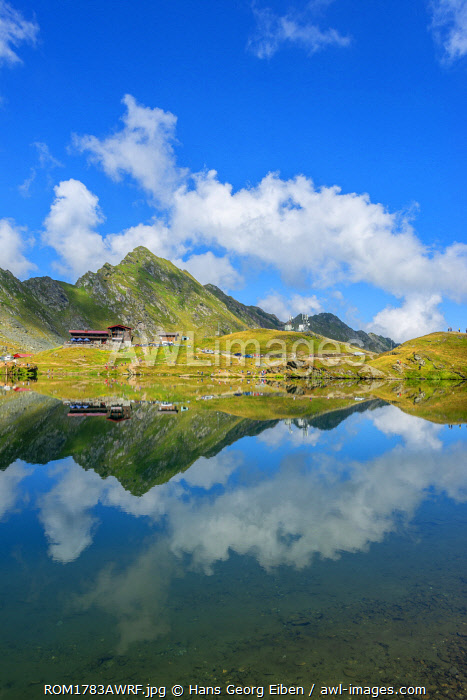 Balea lake at Transfagarasan road, Transylvania, Romania