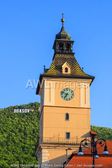 Former council house clock tower, Brasov, Transylvania, Romania