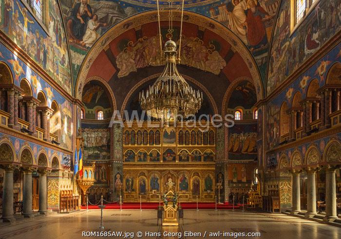 Orthodox Holy Trinity Cathedral, Interior, Sibiu, Transylvania, Romania