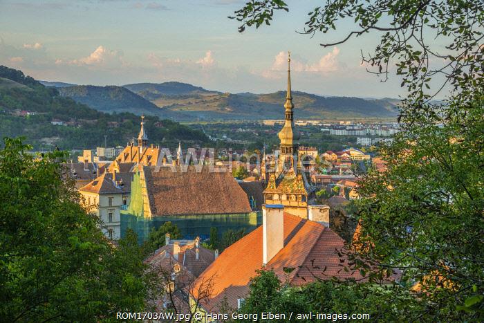 View from St. Nicolaes church at Sighisoara, Unesco World Heritage Site, Transylvania, Romania