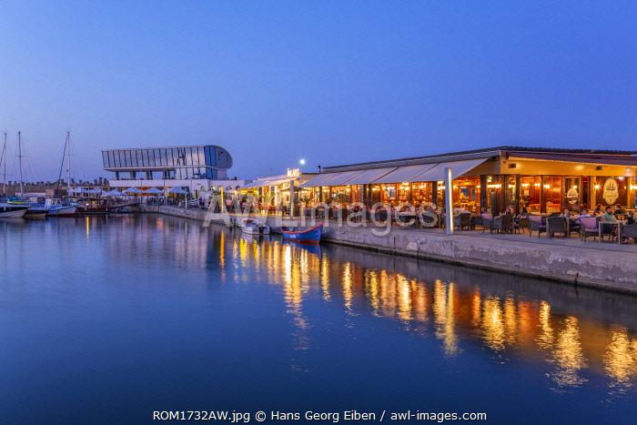 Tomis Tourist Port,  waterfront cafes, Constanta, Dobrudscha, Romania