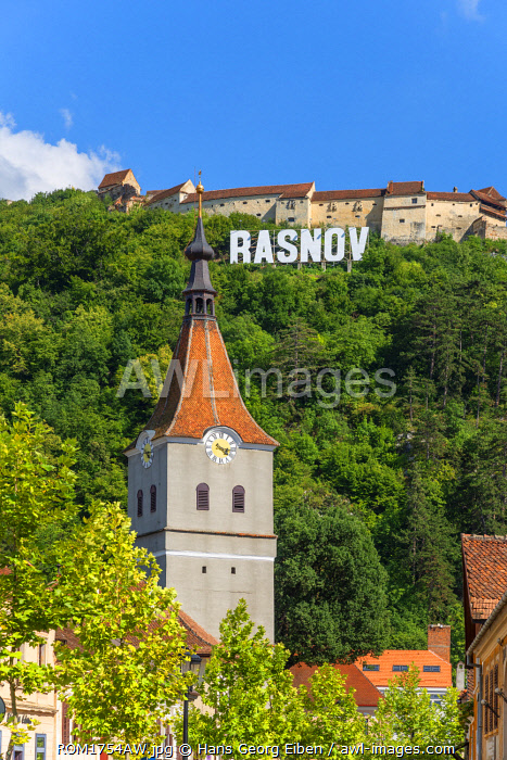 Rasnov with Rasnov castle, Transylvania, Romania