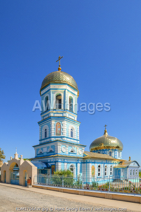 Orthodox church of Sarichioi at the Lake Lacul Razim near Tulcea, Dobrudscha, Romania