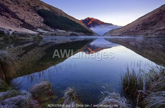 Morning reflections at Lake Kirkpatrick, Otago, New Zealand