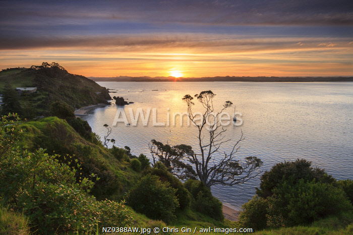 Sunset at Russell, Bay of Islands, New Zealand