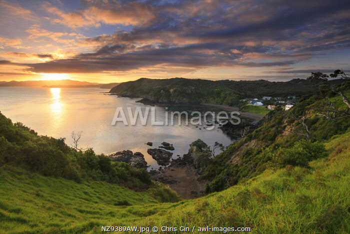 Sunrise in Russell, Bay of Islands, New Zealand