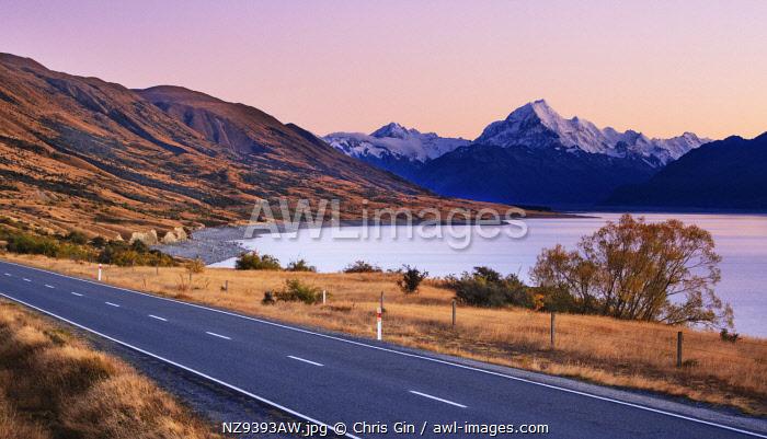 Sunset at Lake Pukaki, Canterbury, New Zealand